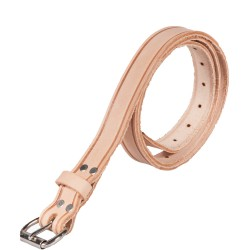 "1"" Wide Leather Work Belt with Roller Buckle"