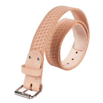 "2"" Wide Leather Work Belt with 1-Tongue Roller Buckle"